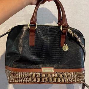 Brahmin Vivian Tri-Color leather Rare Handbag